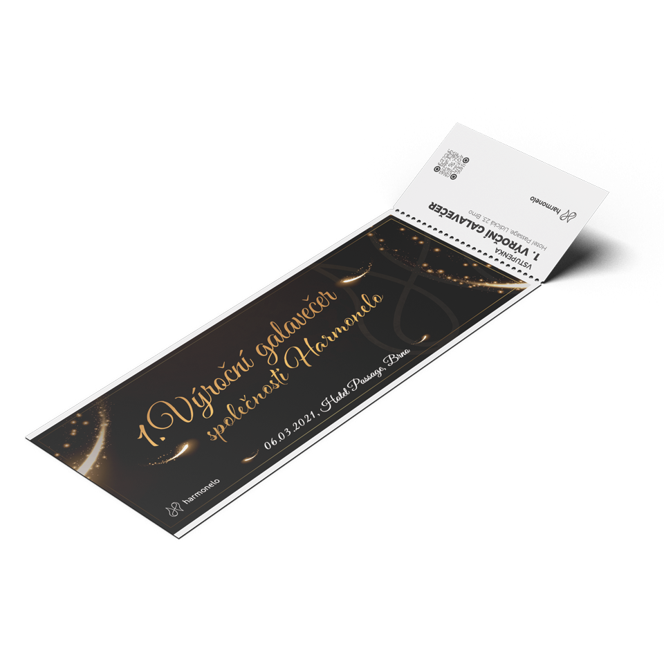 Ticket for the 1st HARMONELO annual gala evening March 6, 2021 - Category B1, B2